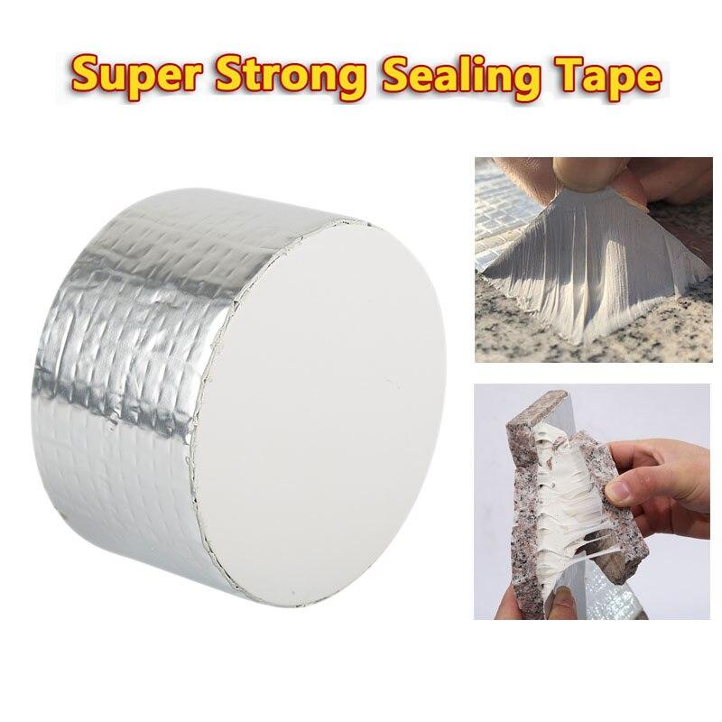 Лента из бутилалюминиевой фольги, водонепроницаемая суперклейкая уплотнительная лента, герметичная ремонтная лента из шотландского волок...