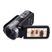 HDV-302P 3.0 Inch LCD Screen Full HD 1080P 15FPS 24MP 16X Digital Camera Anti-shake Digital Video DV Camera Camcorder 3 0in lcd touch screen handy camcorder 1080p 24mp digital video camera camcorder recorder infrared night vision video camera