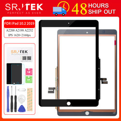 For iPad 2019 10.2 Touch Screen For iPad 7 iPad7 Screen Digitizer Glass Sensor Touchscreen For iPad 10.2 Panel A2197 A2198 A2200