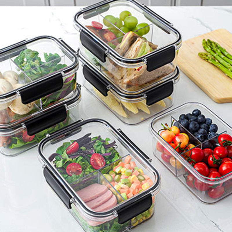 Прозрачный видимый холодильник Crisper классификация герметичный ящик для хранения банка для сохранения фруктов и овощей JS22