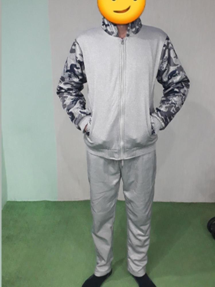 Pants Suit Hoodies Sportswear-Set Zipper Thick Male Winter New Fleece