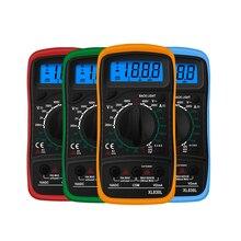 XL830L Handheld Digital Multimeter LCD Backlight Portable AC/DC Ammeter Voltmeter Ohm