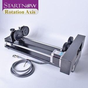 Image 1 - Startnow eixo rotaion gravura acessório com rodas rolos 2 & 3 fase motores de passo para co2 máquina de corte de gravura a laser