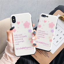 Ottwn Fashion Silk Pattern Phone Case For iPhone X XR XS 7 6 6S 8 Plus Max Chic Cartoon Flowers Back Cases Cover Shells