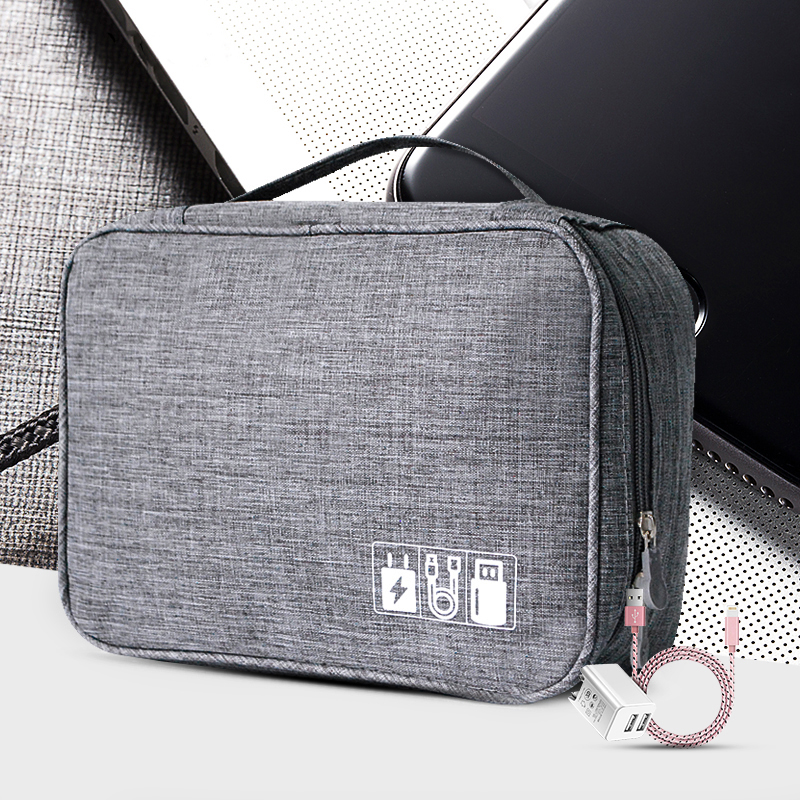 Digital Cable Bag Men Portable Travel Gadgets Pouch Power Cord Charger Headset Organizer Drive Electronic Suitcase Accessories