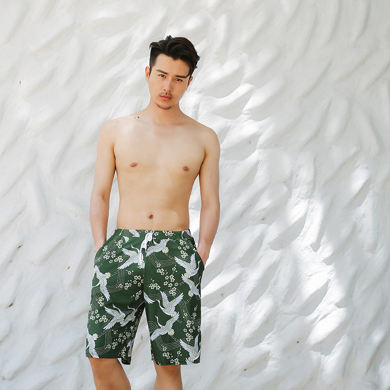 Beach Shorts Plus-sized Menswear Comfortable Loose-Fit Swimming Korean-style Fashion 2018 Couples New Style