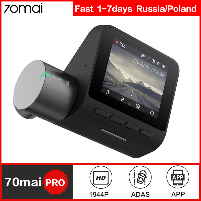 70mai Dash Cam Pro Smart Auto DVR Kamera Wifi 1944P GPS ADAS Voice Control Parkplatz Monitor 140FOV Nachtsicht dash Kamera
