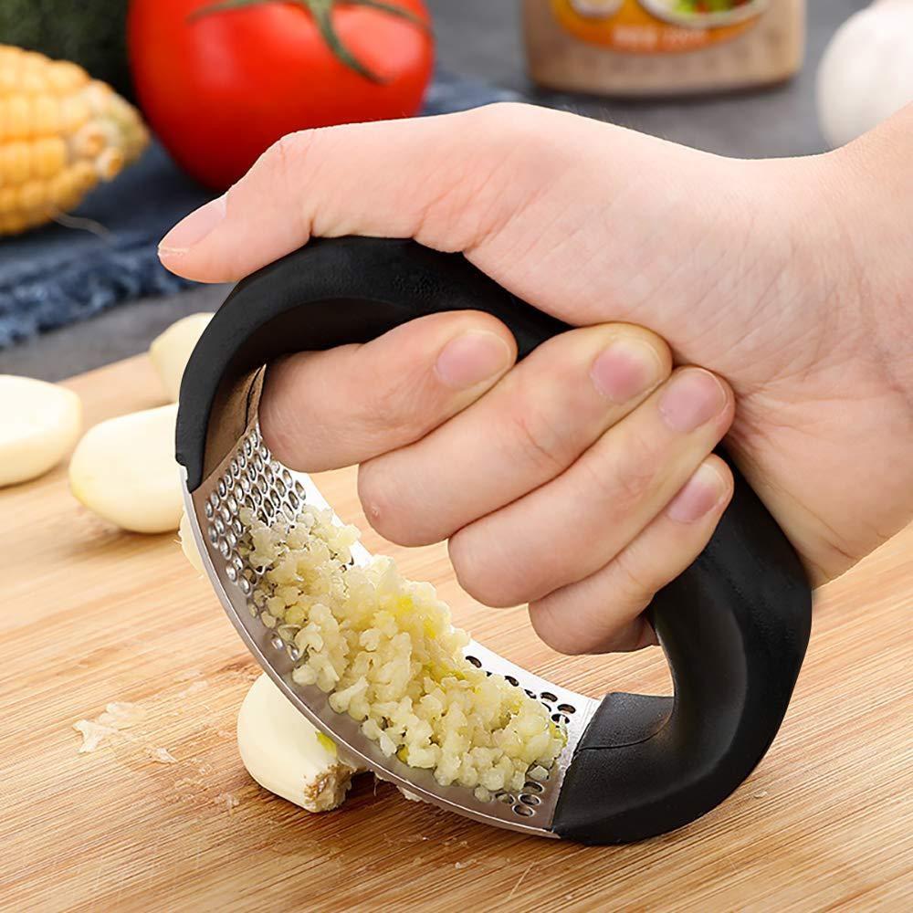 1 pçs imprensa de alho inoxidável manual do agregado familiar dispositivo da imprensa alho espremedor cozinha ferramentas gengibre alho acessórios cozinha