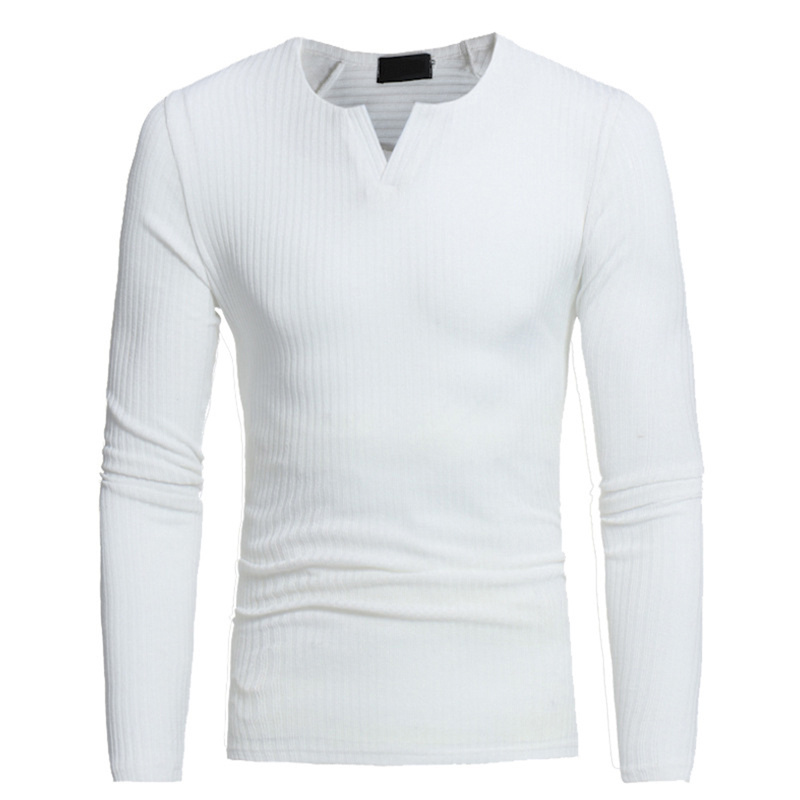 Helisopus Men V-neck Sweaters Long Sleeve Pullover Stretch Shirts Casual Jumper Men 2018 Autumn Winter Knitting Sweater Свитер