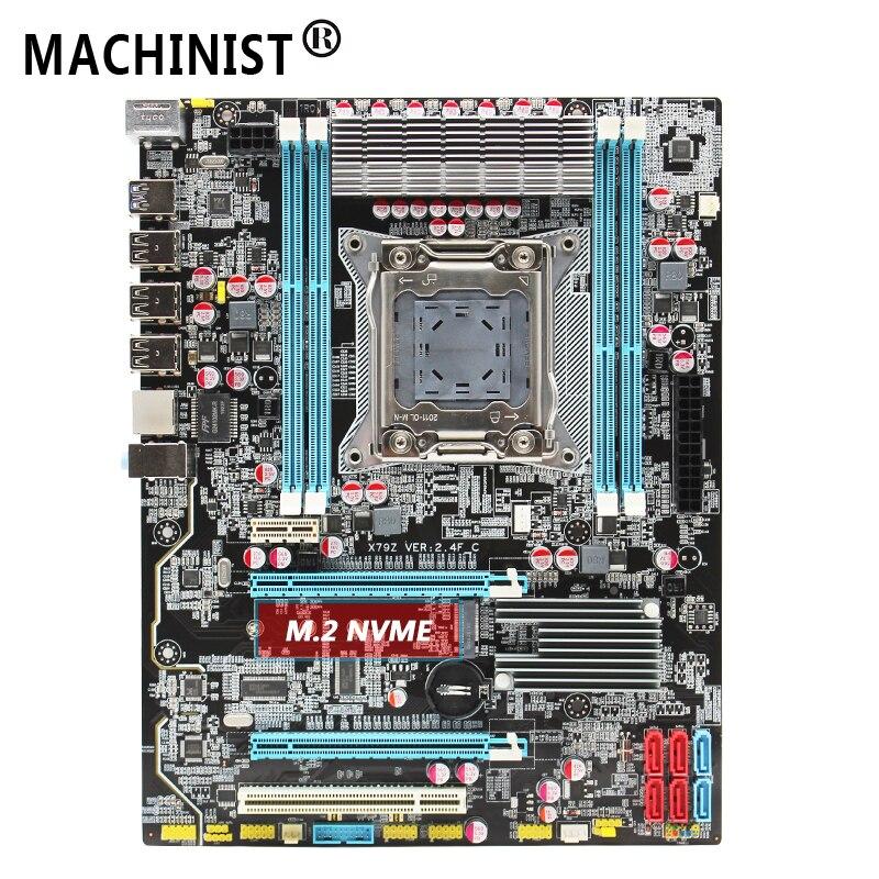 X79 LGA 2011 Motherboard ATX SATA3 USB3.0 Dual PCI-E16X M.2 NVME SSD Support Four Channels DDR3 Xeon E5 2.4F 1620V2 2670 2680v2