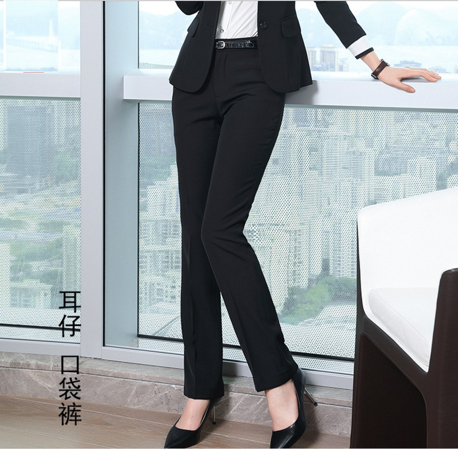 H3169f3ff7a6f4c91a21c87867761c2a40 - Fashion Formal Pants for Women Business Work Wear Office Lady Long Trousers Autumn Winter Plus Size 4XL XXXL Pants Female