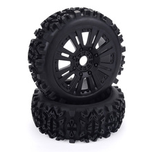 17mm Hub Wheel Rim & Tires Tyre for 1/8 Off-Road RC Car Buggy Redcat Team Losi VRX HPI Kyosho HSP Carson Hobao 1 8 rc car off road vehicles truck nitro change brushless perfect motor mounting holder kyosho hsp hobao fs racing