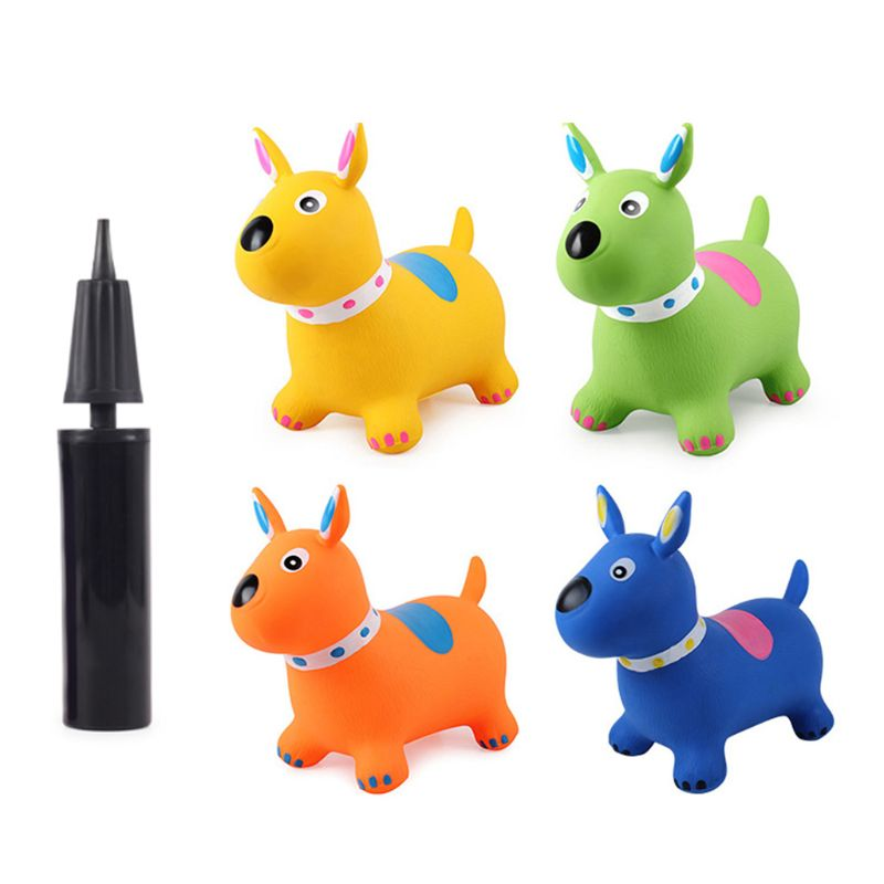 Inflatable Jumping Puppy Inpany Bouncy Dog Hopper Bouncing Animal Toys for Kids