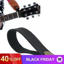 Черный кожаный гитарный ремень держатель Кнопка безопасный замок для акустической для классической электрогитары бас аксессуары