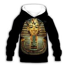 Худи египетское Винтажное с 3d принтом одежда для маленьких