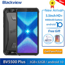 Blackview bv5500 plus android 10 3gb + 32gb smartphone ip68 à prova dip68 água 5.5