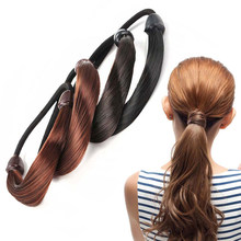 Fashion Hot Women Girl's Wig Elastic Hair Band Stretch Cute Hair Ropes Scrunchie Ponytail Holder Hairband Hair Accessories(China)