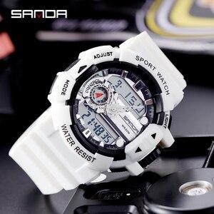 Image 3 - 2019 New Mens Military Watch Quartz Watch LED Digital Outdoor Sports Watch Men S Shock relogios masculino