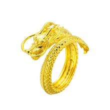 Vietnam Shajin Eletroplating Faucet Embossed Domineering Men'S Opening Ring Brass Plating 24K Gold Jewellery(China)