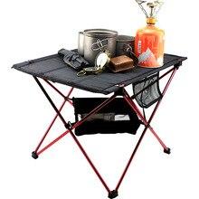 Table Aluminium-Alloy Outdoors Lightweight for Picnic BBQ Park Beach