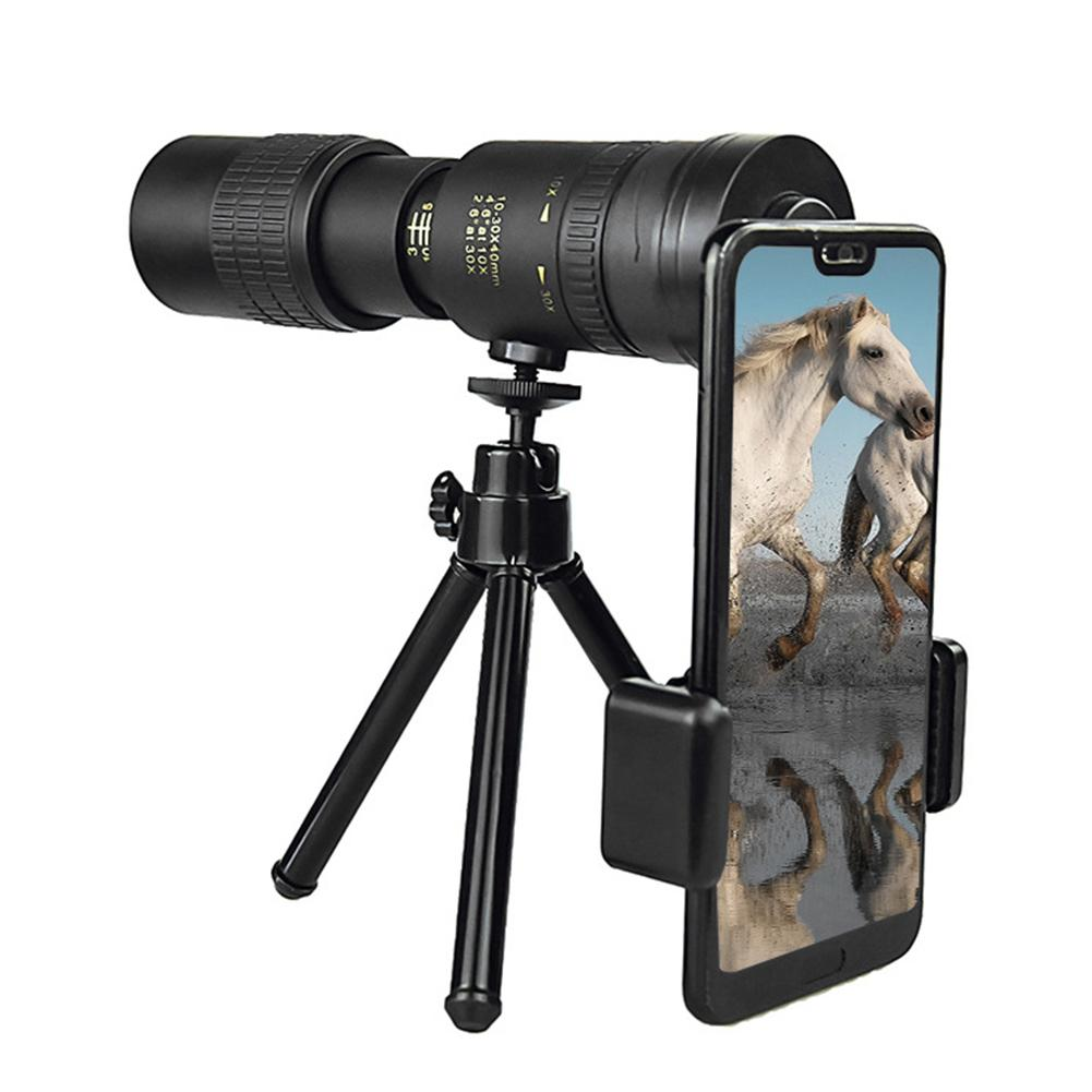 Telescope - 4K 10-300X40MM Super Telephoto Zoom Monocular Telescope Waterproof for Smart Phones Bird Watching/ Hunting/ Camping