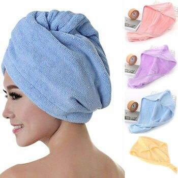 Women Towel Cap Quick Dry Hair Wrap Microfiber Shower Cap Bathing Magic Drying Hat rapid-drying Salon Towel фото