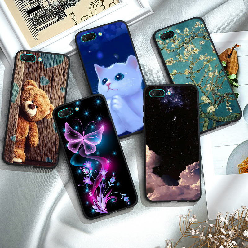 TPU For Huawei Honor 10 Lite Case Black Matt Soft Silicon Honor 10 10I Case Cover Fundas