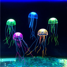 6 Colors Artificial Aquarium Jellyfish Ornament Decor Glowing Effect Fish Tank Decoration Aquatic Pet Supplies Home Accessories
