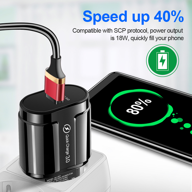 OLAF Quick Charge QC 3 0 USB US EU UK Charger Universal mobile phone charger