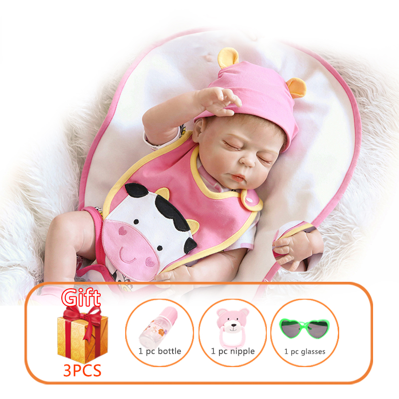 57cm NPK Baby Reborn Doll Whole Silicone Baby Toy Baby Dolls Lifelike Toddler Soft Simulate Real Baby Gifts Toys For Kids