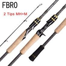 Fbro fundição fiação vara de pesca 2.1 2.4m m/mh viagem isca de rua 2 dicas haste rápida vara de pesca 13-39g