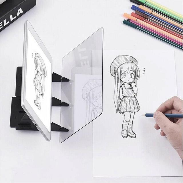 Optical Imaging Drawing Board Lens Sketch Specular Reflection Dimming Bracket Holder Painting Mirror Plate Tracing Copy Table 1