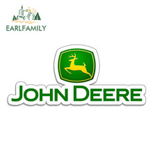 EARLFAMILY 13cm x 5.6cm Vinyl Stickers for JOHN DEERE Farm Tractor Gator Farming AUTO MOTO Car Tuning Side Stickers Funny Decal ngk farm stickers