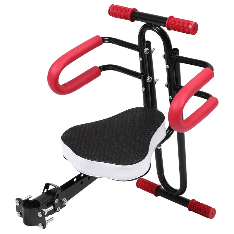 Electric Bicycle Child Baby Chair Bike Front Safety Release Saddle Seat With Armrest Guard Bar Pedal Cycling Accessories For Bel