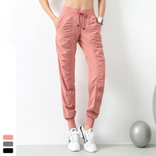 Running Sport Joggers Women Loosen Quick Dry Athletic Gym Fitness Sweatpants with Two Side Pockets Exercise Pants Trousers Mujer