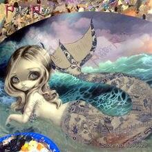 DIY Diamond Painting Cartoon mermaid Square\Round Rhinestonel Full Embroidery 5D crystal Cross Stitch Mosaic stickers Home Decor(China)