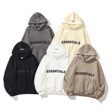 Outono inverno hoodies essentials doce letras reflexivas imprimir unisex flanela velo pul?ver moletom bolso solto hoodies