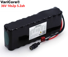 VariCore 36V 5.2Ah 10S2P 18650 סוללה נטענת 5200mAh, שונה אופניים, חשמלי רכב 42V הגנת PCB