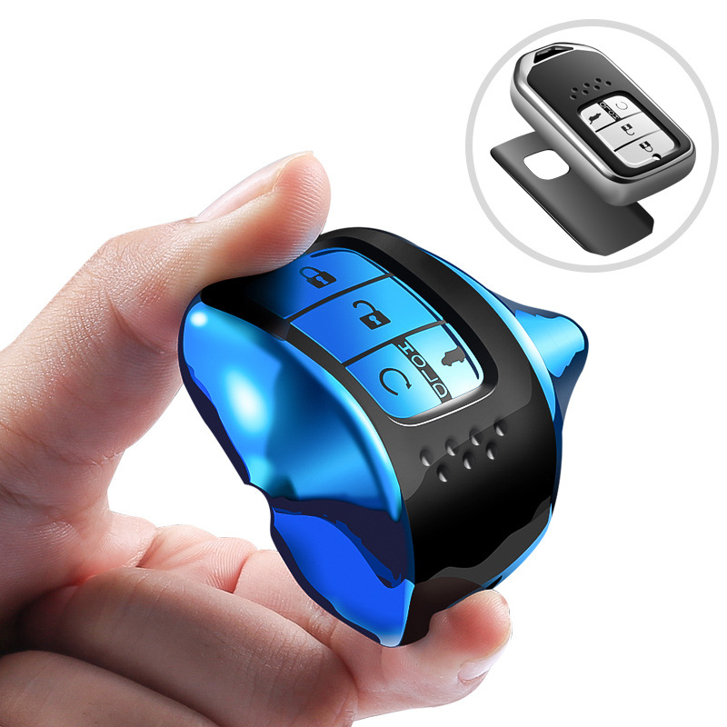 Image 3 - Hight quality TPU+ABS Car Key Cover Case for Honda Civic Accord Cr v Pilot 2015 2016 2017 2018 Buttons Remote Intelligence Key-in Key Case for Car from Automobiles & Motorcycles