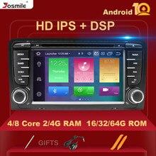 HD IPS DSP 4 GB 2 din Android 10 reproductor de DVD de coche para Audi A3 8P S3 2003-2012 RS3 Sportback Multimedia estéreo Carplay cámara trasera