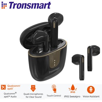 Tronsmart Onyx Ace TWS Bluetooth 5.0 Earphones Wireless Earbuds Noise Cancellation with 4 Microphones,24H Playtime