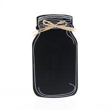 1 pc pendurado desejando garrafa quadro memorando mensagem blackboard casa presente cozinha