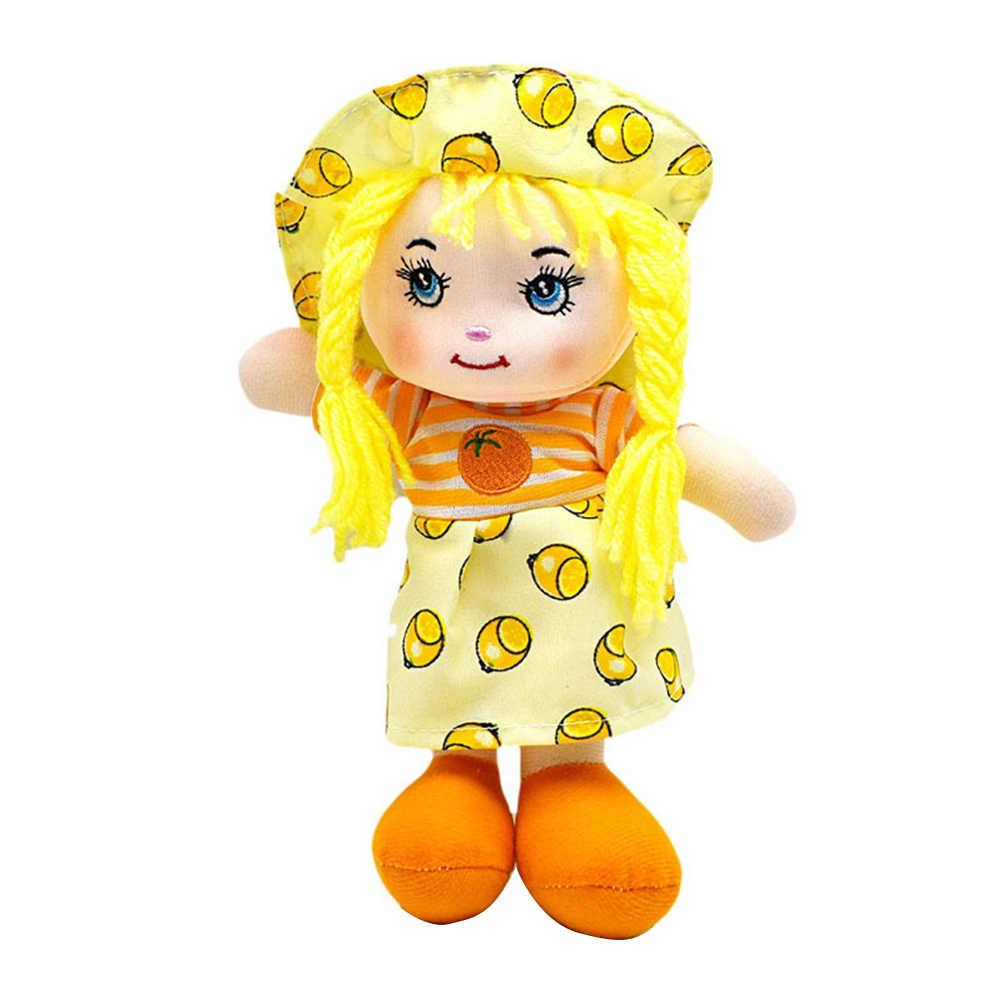 25 センチメートル漫画かわいいフルーツスカート帽子ぼろ人形ソフトかわいい布 Stuffe のおもちゃふり再生女の子誕生日クリスマスギフト #50