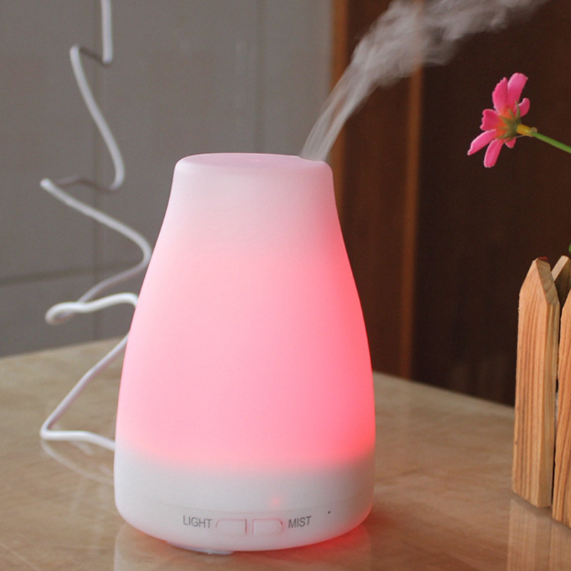 100Ml Electric Aroma Diffuser Air Humidifier Essential Oil Diffuser Aroma Lamp Aromatherapy Mist Maker with Remote Control EU Pl|Humidifiers| |  - title=