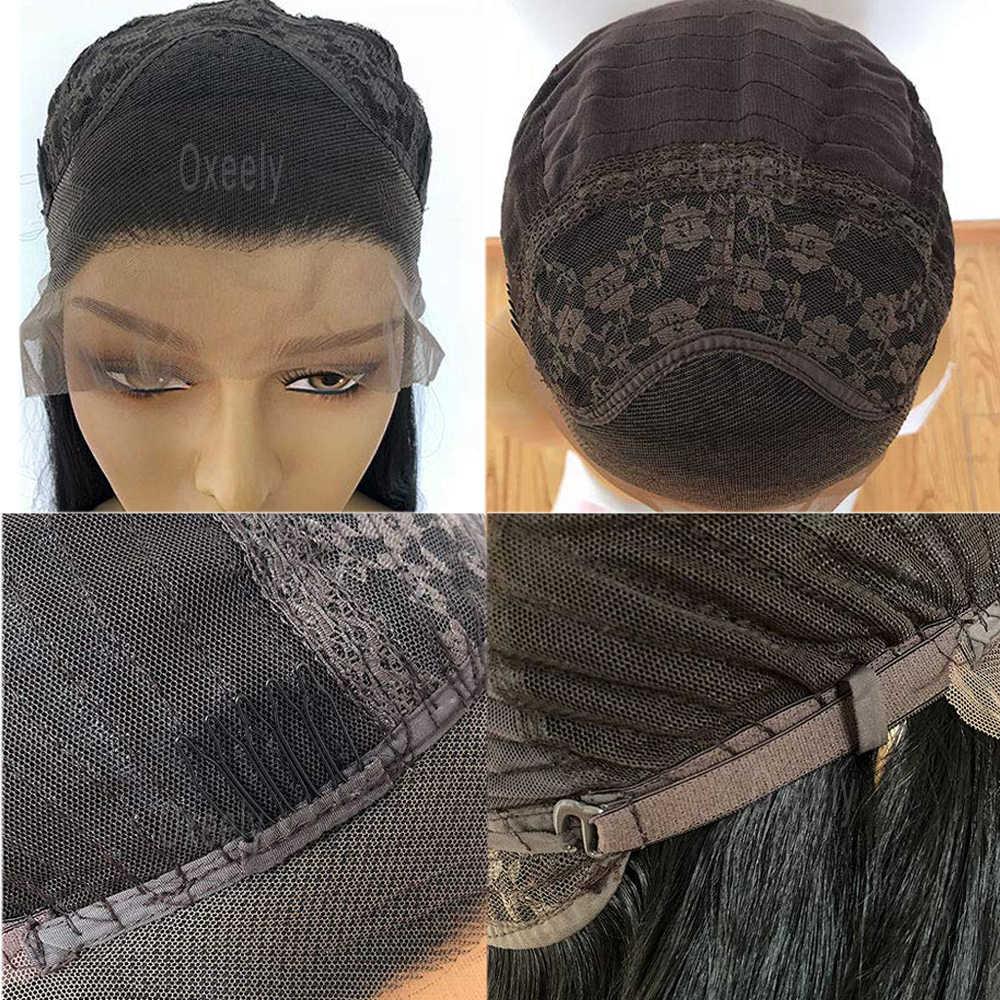 Oxeely korte bob zwart Kant Pruiken Hittebestendige Lijmloze Synthetische Lace Front Pruiken voor Vrouwen
