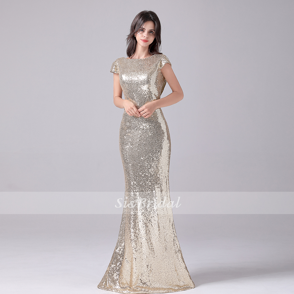 Trumpet / Mermaid Floor Length Sequined Formal Dress Prom Dresses Evening Dress For Party