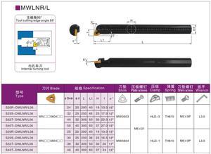 Image 2 - 32 Mm Dwlnr Dwlnl S32T DWLNR08 S32T DWLNL08 Interne Draaien Gereedschaphouder Cnc En Carbide Insert WNMG080404 Ma UE6020 Draaibank Tool