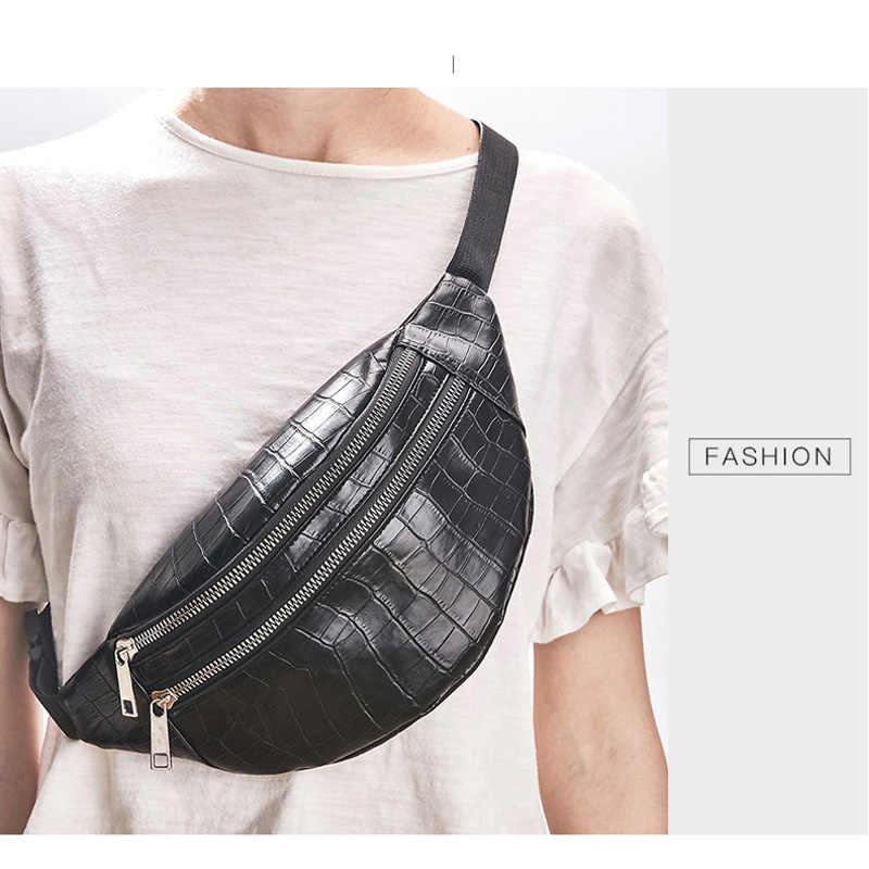 Buaya Tas Dada Pinggang Paket untuk Unisex Perempuan Pu Kulit Tas Paket 2019 Baru Wanita Fashion Kualitas Tinggi Sabuk Dada tas