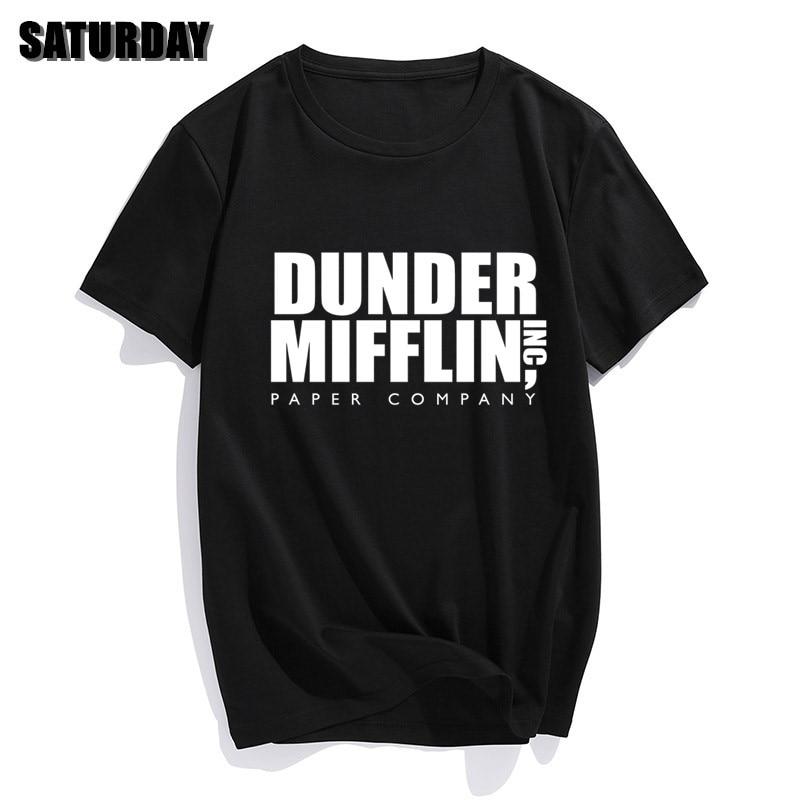 DUNDER MIFFLIN PAPIER INC büro tv zeigen Mens Baumwolle T-Shirt Junge Mädchen Sommer Baumwolle T shirt Unisex Kleidung
