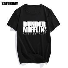 Мужская хлопковая футболка dunder mifflin paper inc летняя для